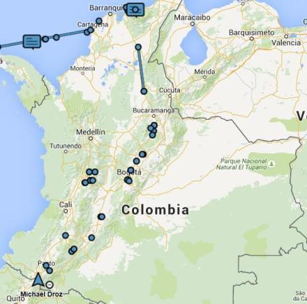 itinéraire colombie